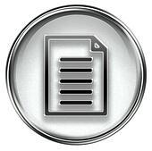 Document icon grey