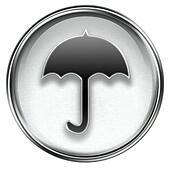 Umbrella icon grey