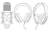 Earphones and microphone