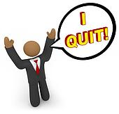 I Quit - Businessman Speech Bubble