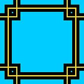 art deco frame pattern