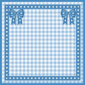 Plaid background with bows