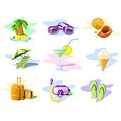 Travel and Vacation icons: Set 01