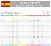 2015 Spanish Planner-2 Calendar wit