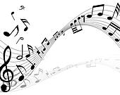 Musical Staff Clip Art - Royalty Free - GoGraph