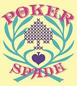 poker spade element