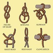 A collection of knots and hitches illustrations