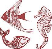 Sea fish seahorse