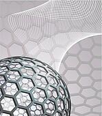 abstract background with buckyball