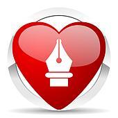 pen valentine icon