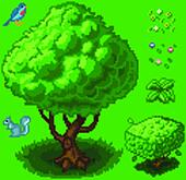 Vector Pixel Art Forest Icon Set