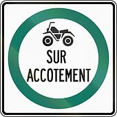 ATVs Drive On Shoulder in Canada