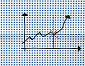 stock graph drawing