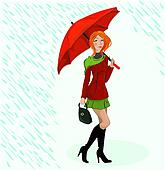 the girl wit umbrella