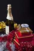 Gift Boxes and Champagne