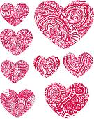 Paisley Heart Element