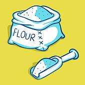 Bag Flour Clip Art - Royalty Free - GoGraph