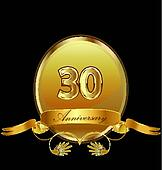 30th anniversary birthday seal