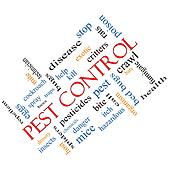 Pest Control Word Cloud Concept Angled