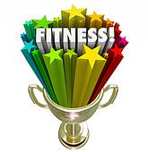 Fitness Award Trophy Winner Top Score Evaluation Prize