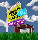 Home for Sale Sign - Desperate to Sell House