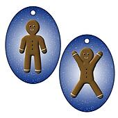 tags with gingerbread man
