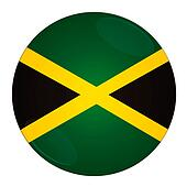 Jamaica button with flag