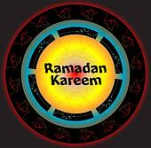 Islamic greeting arabic text for holy month Ramadan Kareem