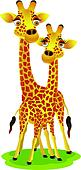 giraffe cartoon couple