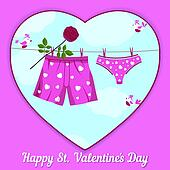 card by St. Valentine's Day.