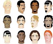 12 Men Faces 1