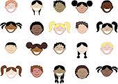 20 Kids Faces 2