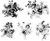 rose flower clipart material