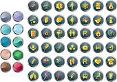 round medical buttons