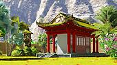 Buddhist shrine in the mountains