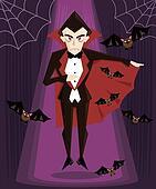Dracula halloween character