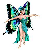 Beautiful Turquoise Fairy