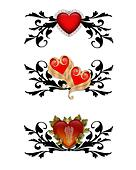 Red Hearts  Design elements