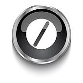White Pill symbol on black glossy web button