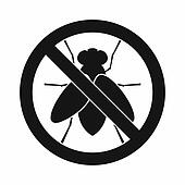 No fly sign icon, simple style
