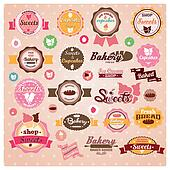 Vintage ice cream cupcake labels