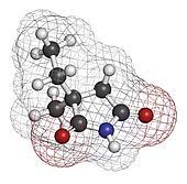 Ethosuximide anticonvulsant drug molecule. Used in treatment of