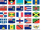 25 Caribbean Flags
