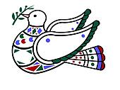 dove carrying olive branch. peace