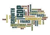Gross Domestic Product word cloud