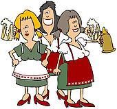 Oktoberfest Beer Maidens