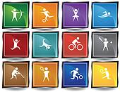 Sports Square Icon Set