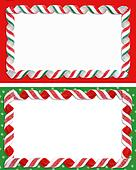 Christmas Label Borders Ribbon Candy
