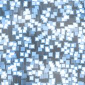 Funky Blue Squares Pattern