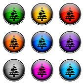 Button Color CHRISTMAS